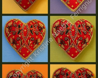 Six Hearts Collage
