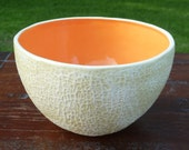Tall Cantaloupe Bowl