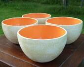 Tall Cantaloupe bowls- Set of 4
