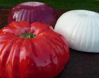 Salsa Set of 3- tomato, white onion, red onion