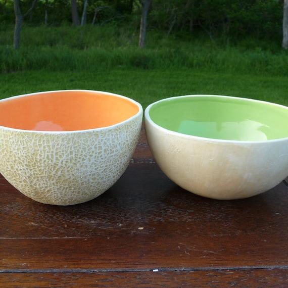 Melon Mix pair of bowls