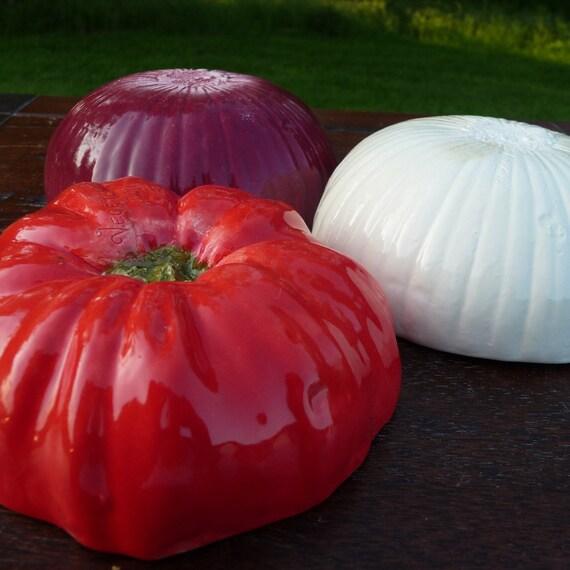 Salsa Set of 3- tomato, white onion, red onion