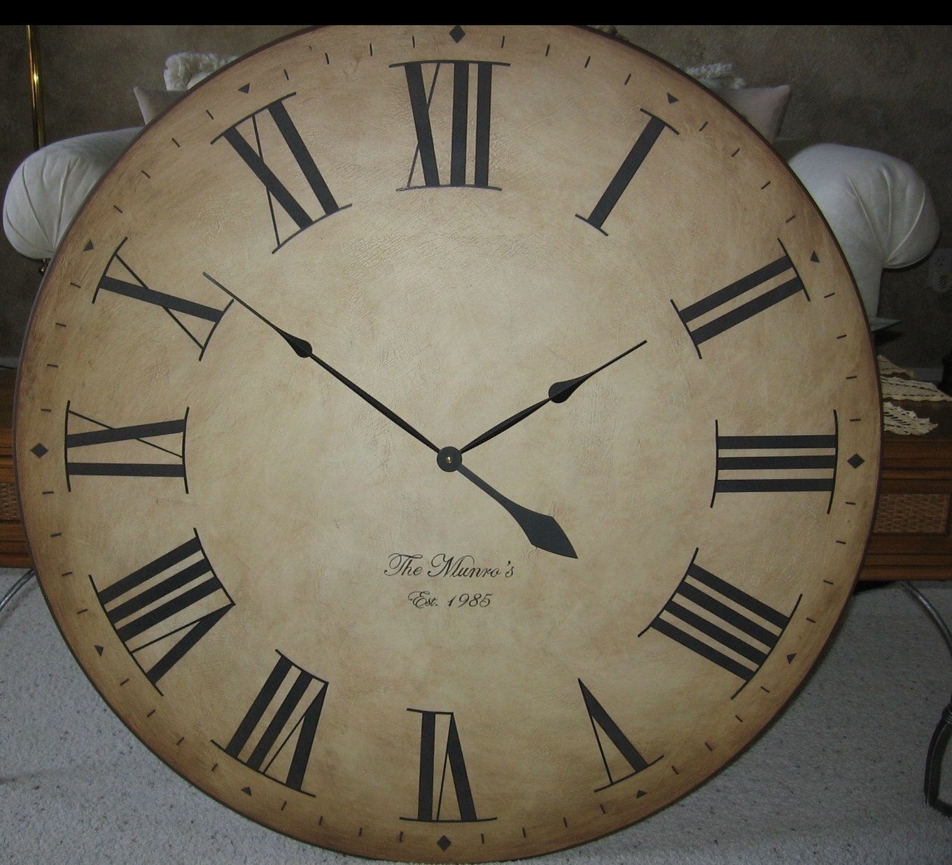 Large Wall Clock 36 Big Antique Style Gallery Tuscan