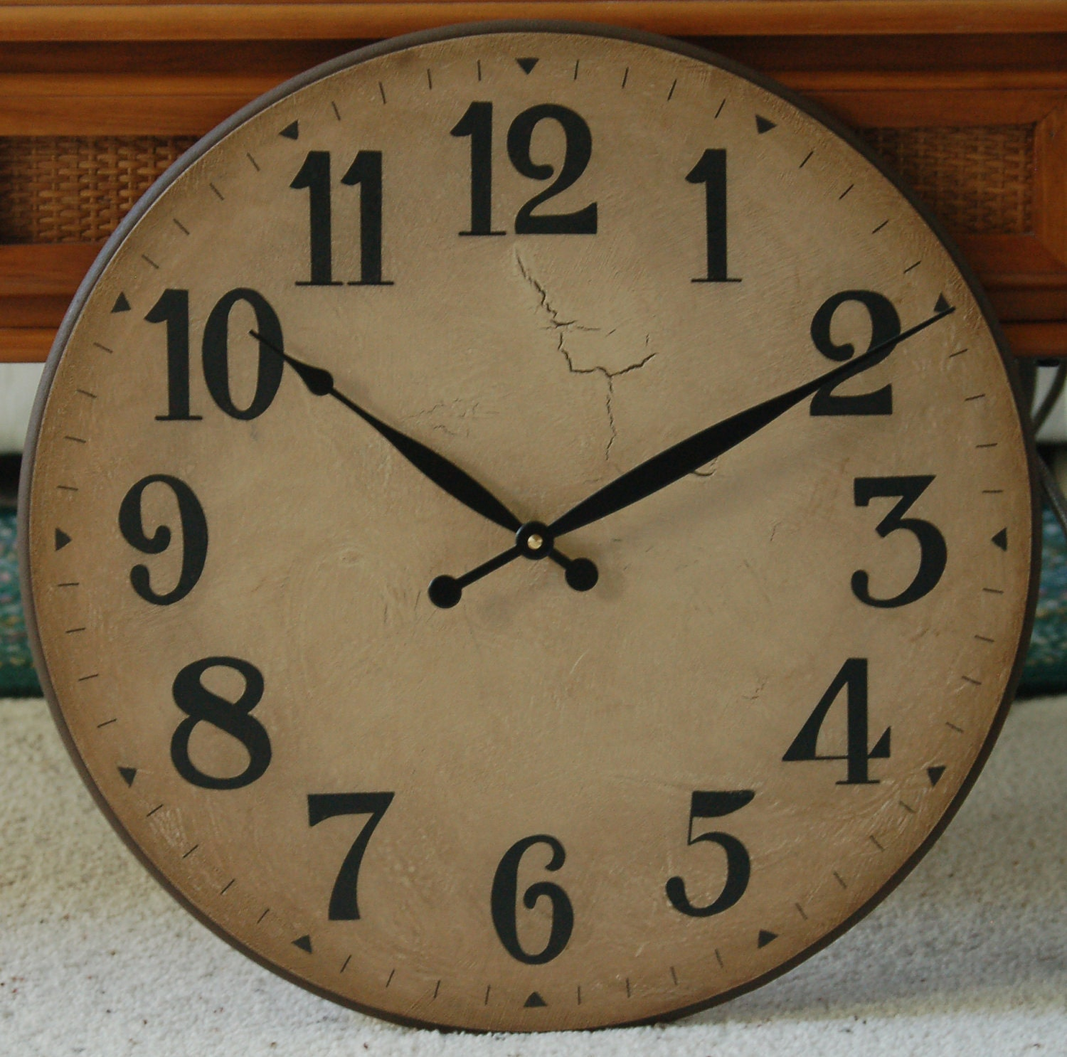 16 Inch Large Wall Clock Antique Rustic Tuscan Gallery