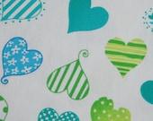 SALE Cute Heart Fabric - 1 yard