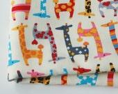 Cute Giraffe Fabric Red 22X44 Inches
