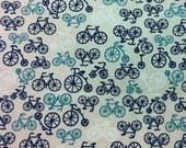 Blue Bikes Fabric 1 Yards