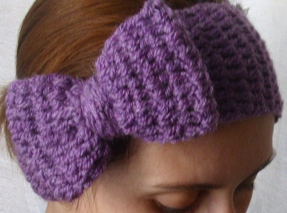 Boho Crochet Patterns : Crochet boho winter headband PDF PATTERN by threemagicsheep
