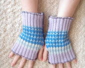 Blueberries No. 5 Handwarmers - Made From Upcycled Sweaters