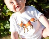 Little Fox Onesie/Bodysuit. Available as a tee