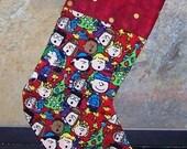 Peanuts Christmas Holiday Stocking - FREE SHIPPING