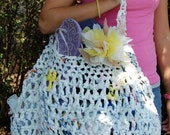 Pattern for recycle plastic bag tote