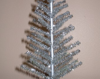 1:12 scale silver aluminum Christmas tree