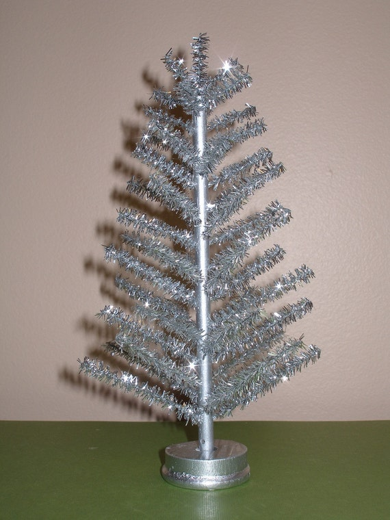 metal christmas tree 1 12 scale silver aluminum tree by distantplanet 10899