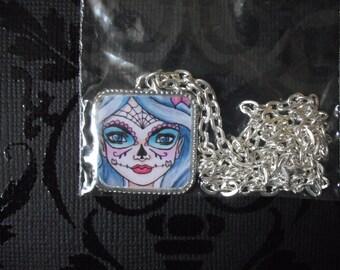Sugar Skull- Art necklace
