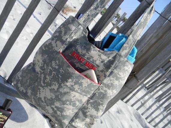 ACU Army Wife Mom Tote Bag Beach & change purse