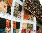 SALE-Autumn Throw Quilt (53x53) in Grand Finale by Sandy Gervais