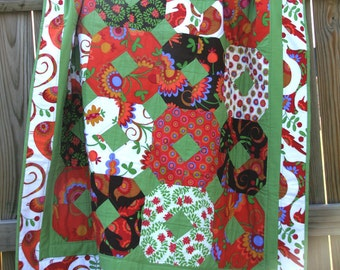 Large Throw Quilt (46x64) in Pretty Bird by Pillow & Maxfield