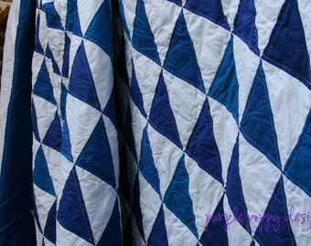 custom geometric twin wave quilt (65x85)