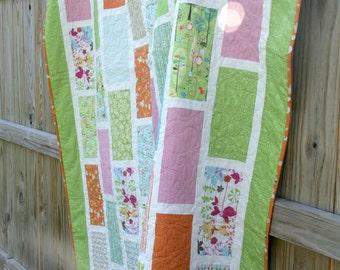 custom twin layered brick quilt (48x75)