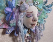 RESERVED FOR IMANFORD Angel art doll ornament, Celeste, Angelic Dream Guardian