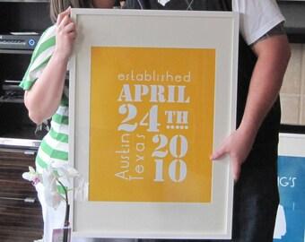 Custom Date Poster