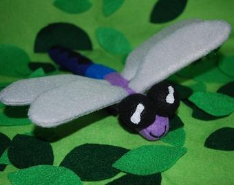 Stuffed Dragonfly Felt Soft Sculpture