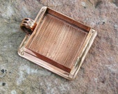 Extra Large Square Pendant Blank - Copper