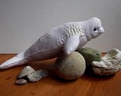 Beluga Whale No.3 - White Whale Soft Sculpture