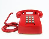 Vintage Telephone Red push button phone