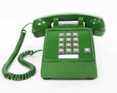 Vintage Phone Green push button telephone