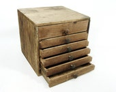 Wooden Storage Chest 6 drawers