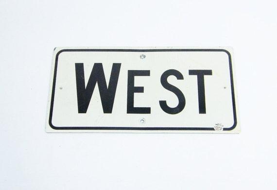 Vintage Street Sign WEST