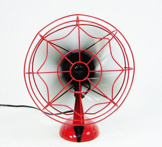 Vintage Electric Fan Red & Black