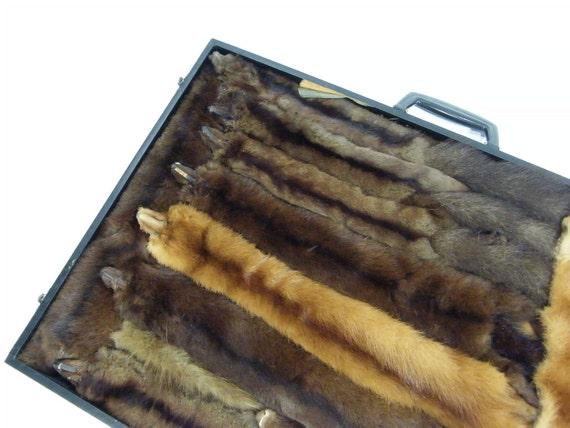 Vintage Mink Stoles Salesman Sample Suitcase