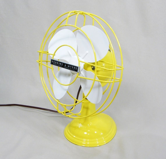 RESERVED for Sarah Vintage Electric Fan Yellow