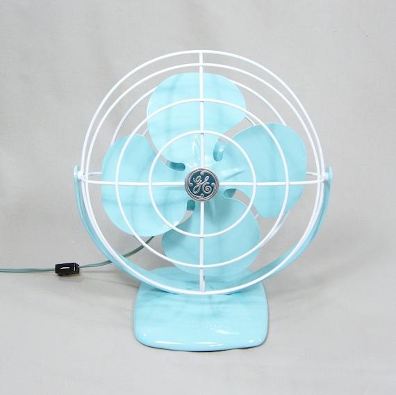 Vintage Electric Fan Aqua Blue