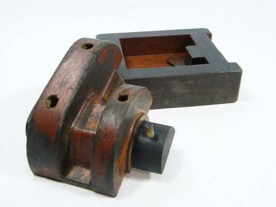 antique wooden foundry molds