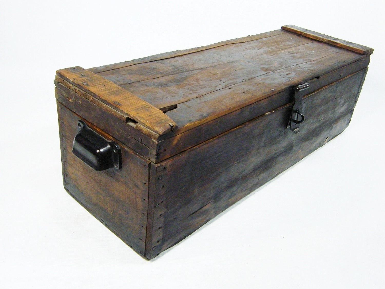 Wooden Storage Chest a...