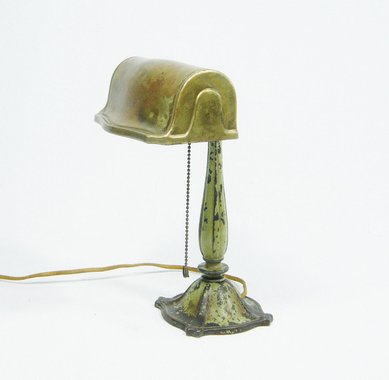 antique bankers lamp. Black Bedroom Furniture Sets. Home Design Ideas