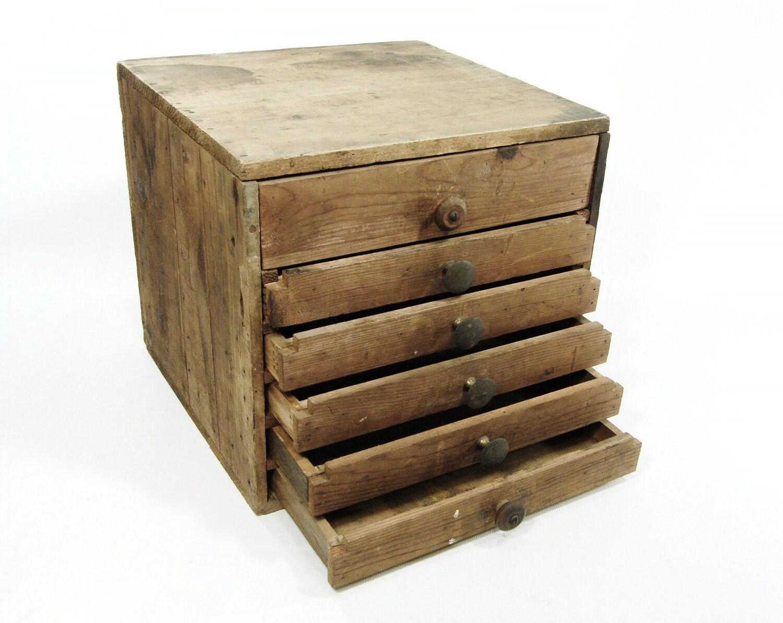 wooden storage chest 6 drawers