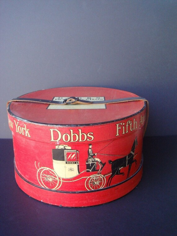 Vintage Dobbs Fifth Avenue Hat Box New York By Vintagesuzannas