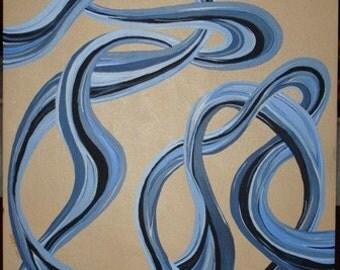 Square blue twist