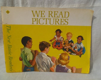 Vintage Childrens Book We Read Pictures