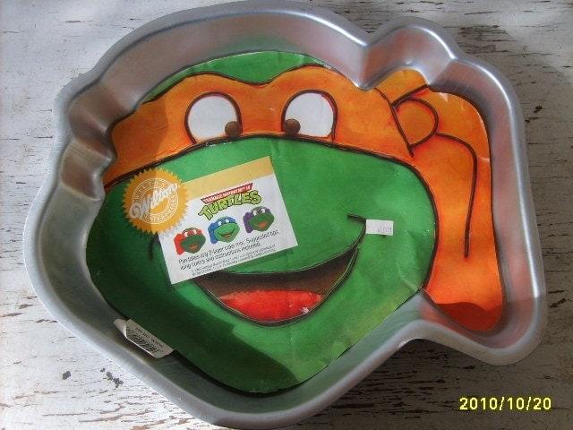 Vintage Ninja Turtle Wilton Cake Pan By Silverliningtoys