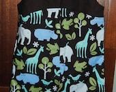 baby or toddler romper safari print