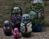 "RESERVED 6"" 5 piece zombie matryoshka"