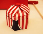 5 Circus Tent Favor Boxes, Circus/Carnival Party Decorations, Parties to Go