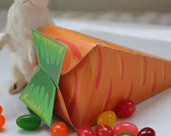 Easter Bunny Carrot Printable/DIY Decorations Favor Box