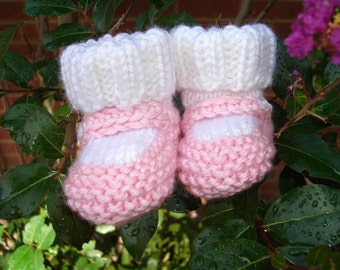 Mary Jane Baby Booties